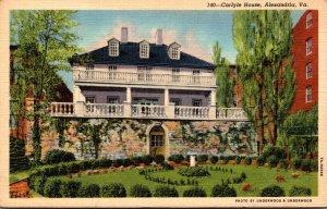 Virginia Alexandria The carlyle House 1945 Curteich