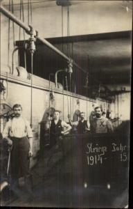 Lindau Germany Cancel Men Working In Factory? Boiler Room? 1914-1915 RPPC