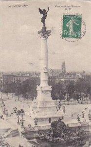 France Bordeaux Monument des Girondins 1913