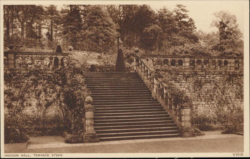 Haddon Hall Terrace Steps Photochrom