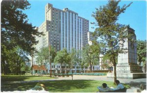 The Sheraton Laurentian Hotel from Dominion Square, Montreal, PQ, Quebec, Chrome
