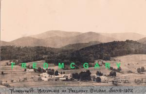 1925 Plymouth Vermont RPPC: Recaptioned for Coolidge Presidency