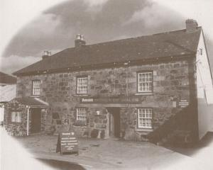 The Prince Of Wales Pub Newtown St Martin Arfist Drawing Large Rare Postcard