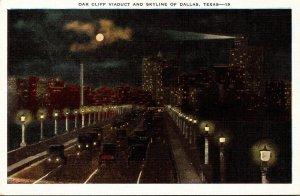 Texas Dallas Skyline and Oak Cliff Viaduct