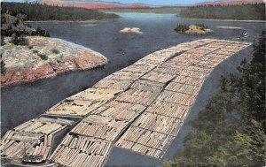 Log Boom Passing Through Deception Pass, Washington, USA Unused