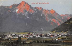 Lienz Tyrol Austria panoramic birds eye view town & mountains antique pc Z30045