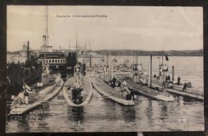 Mint Germany navy RPPC U Boat Real Picture Postcard Submarine Flotilla