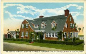 Summer Residence of Joseph C. Lincoln - (Author Cape Cod Massachusetts Stories)