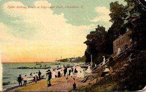 Ohio Cleveland Edgewater Park Public Bathing Beach 1912