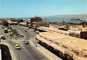 Jordan Aqaba - The Main Street, auto cars, truck, bus, ships, panorama
