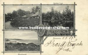 liberia, MONROVIA, Multiview, Stockton Creek, Bluebarrah (1907)