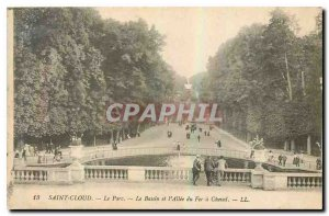 Postcard Old Saint Cloud park pelvis and Allee du Fer a Cheval