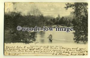ft1285 - Central Park , Lake near 59th Street , New York , USA - postcard