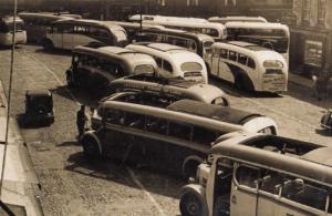 Knaresborough Yorkshire Holiday Old Bus Pile Up Market Place 1947 Big Postcard
