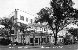 Clearwater FL Gray Moss Inn Admiral Radio Store Old Truck Real Photo Postcard