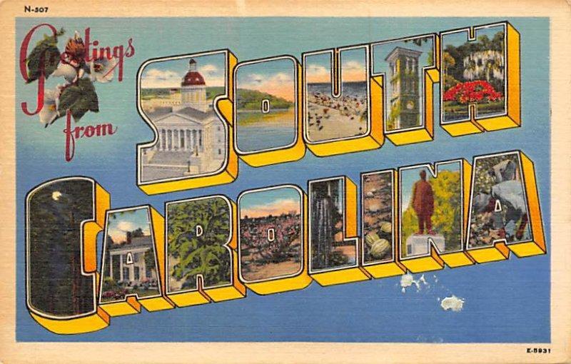 Greetings from South Carolina Greetings from, South Carolina