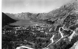Montenegro Kotor, coastal aerial general view