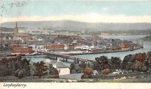 Northern Ireland: Londonderry Aerial General View, River, Bridge 1905