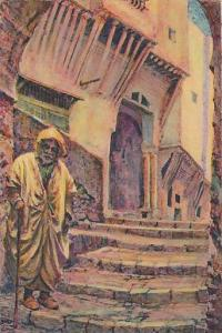 ALGER - Dans la Casbah - Rue Boulabah , 1910-30s