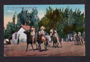 ID Vintage 1911 Bannock Tribe Indian Chief Pocatello Idaho Postcard Trans Clk