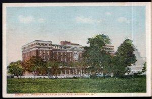 New York BROOKLYN Kings Co. Hospital Nurses Quarters - White Border