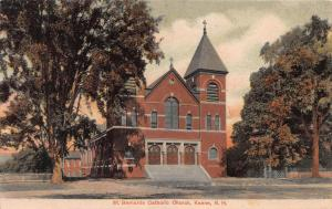 St. Bernards Catholic Church, Keene, New Hampshire, Very Early Postcard, Unused