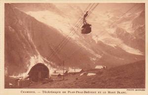 France Chamonix Teleferique de Plan-Praz Brevent et le Mont Blanc