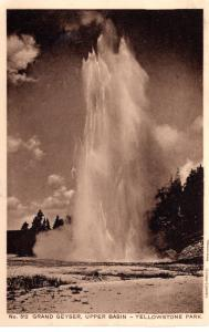 Grand Geyser, Upper Basin, Yellowstone National Park, 1914