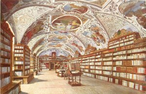 Czech Republic the library the theol hall Postcard