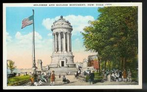 Soldiers & Sailors Monument New York City unused c1920's