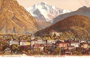 Switzerland Postcard Interlaken und die Jungfrau