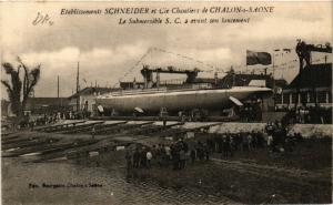 CPA Chalon-sur-Saone - Le Submersible S. C. avant son lancement (638026)