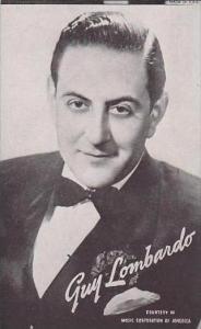 Vintage Mutoscope Card Guy Lombardo