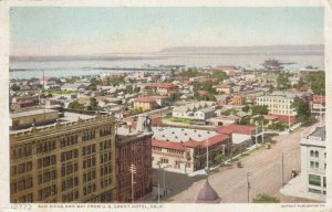 SAN DIEGO , California , PU-1914 ; View of City & Bay from U.S. Grant Hotel