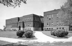 Leon Iowa~High School Building~Some Open Windows~1940s RPPC