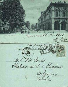 italy, TORINO TURIN, Corso Vitt. Emanuele (1901) Moonlight Postcard