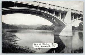 Youngsville Pennsylvania~View Under Allegheny River Concrete Bridge~1940s B&W PC