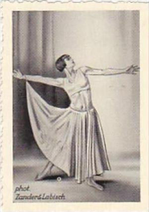 GARBATI CIGARETTE CARD FAMOUS DANCERS NO 134 YVONNE GEORGI