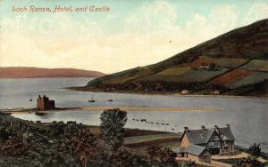 Loch Ranza Hotel and Castle River Boats Postcard