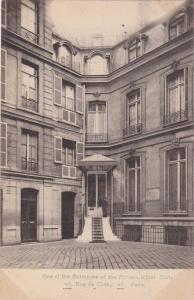 One of the entrances of the Private Hotel Glatz, Rue de Clichy, Paris, PU-00-10s