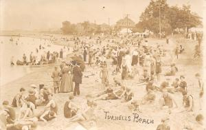 Turnell's Beach~Bathing Beauties & Beach Bums~Closeup~1910 Fashion Swimwear 1910