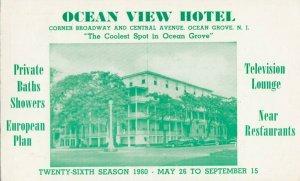 OCEAN GROVE , New Jersey, 1950s ; Ocean View Hotel