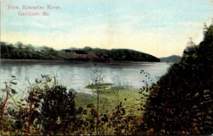 Maine Gardiner View On The Kennebec River