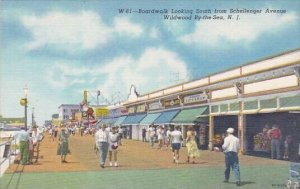 Boardwalk Looking South From Schellenger Avenue Wildwood By The Sea New Jersey