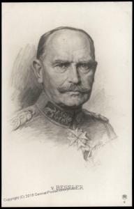 Germany WWI General von Beseler Artist Signed  RPPC 77361