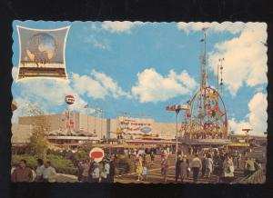 1964 NEW YORK CITY WORLD'S FAIR PEPSI COLA BUILDING VINTAGE ADVERTISING POSTCARD