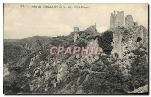 Old Postcard Crozant Ruins From West Coast