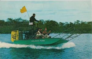 ANDYTOWN FL - AIR BOAT from EVERGLADES HOLIDAY PARK - 1960s