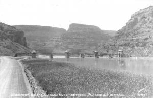 Government Dam Nevada Colorado River Real Photo Antique Postcard K66781