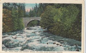 EAGLE CREEK AND HIGHWAY BRIDGE, COLUMBIA RIVER HIGHWAY, OREGON, used Postcard